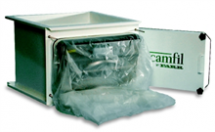 "Camfil Farr's CamSafe Housings with ""bag-in/bag-out"" technology are used to separate radioactive, toxic or bacterial particles and gases to provide safety for the operator"